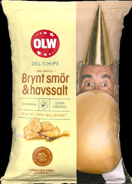 Delichips Brynt smör & Havssalt