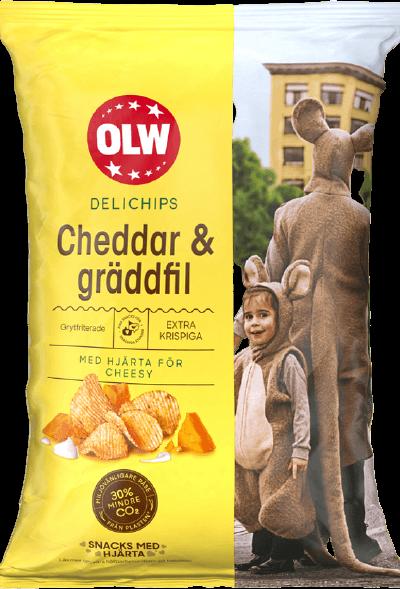 Delichips Cheddar & Gräddfil