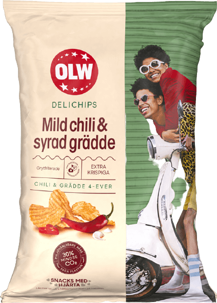 Delichips Mild chili & Syrad grädde
