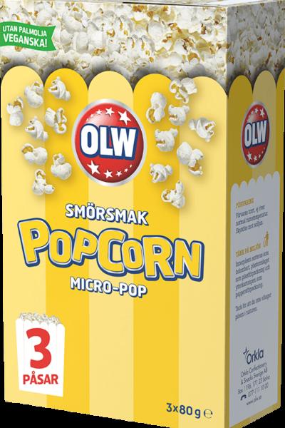 Micropopcorn smör